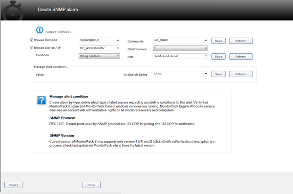 Click to view MonitorPack Snmp 1.0.1 screenshot